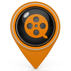 film pointer icon on white background