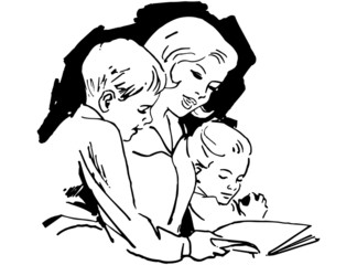 Mom Reading With Children