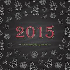 Christmas or New Year Chalkboard design.