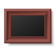 Horizontal brown frame for picture or text