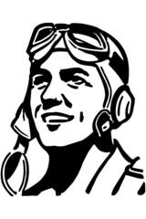 Man With Aviator Helmet