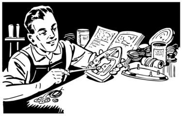 Man Repairing Appliances