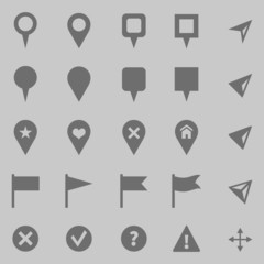 Vector Set of GPS Icons. Map Markers and Pointers.