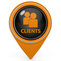 Client pointer icon on white background
