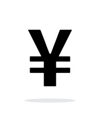 Chinese yuan icon on white background.
