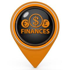Finance pointer icon on white background