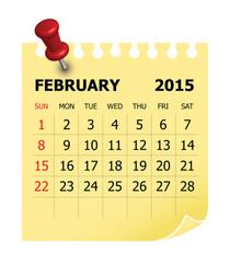 2015 Calendar- February