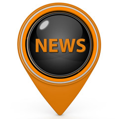 News pointer icon on white background