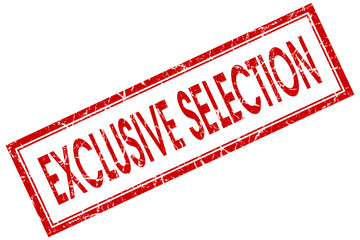 exclusive selection red square stamp