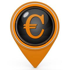 Euro pointer icon on white background