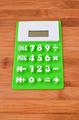 Calculator on table