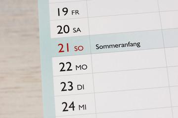 Sommer - Sommeranfang - Jahreszeit - Urlaubszeit - Juni