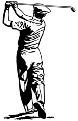 Golfer Teeing Off 2