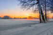 canvas print picture - Winter Sunset