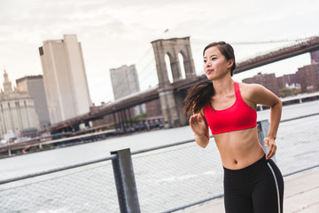 Asian Girl Jogging in New York