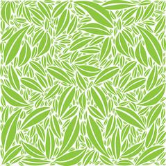 Fond Motif Feuillage Composition en Vert / Blanc