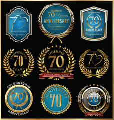 Anniversary golden label collection
