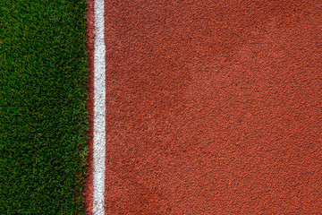 Artificial grass and run track texture