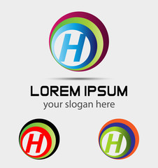 Letter H logo icon design template elements. Vector sign