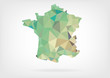 Low Poly Map of France
