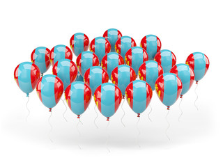 Balloons with flag of mongolia