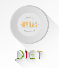 Diet spelled out with vegetables vector