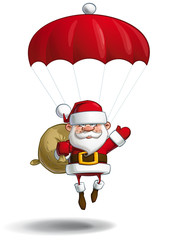Happy Santa - Parachute Sack of Gifts