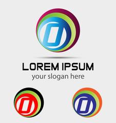 Letter O logo symbol elements