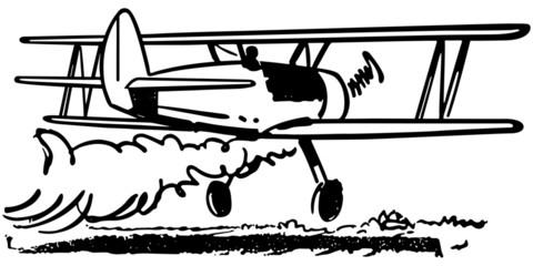 Crop Dusting Biplane