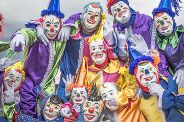 Group of clowns