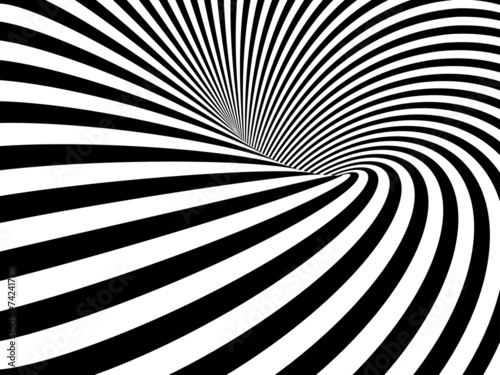 Fototapeta Optical Illusion Wormhole