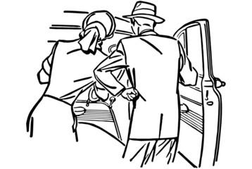 Couple Examining New Car