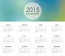 Kalender 2015 Jahresplaner Jahreskalender Taschenkalender blau