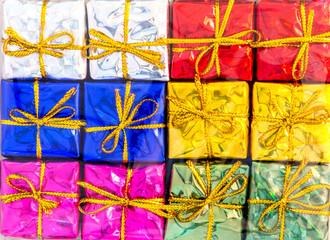 mixed glitter color of mini gift box