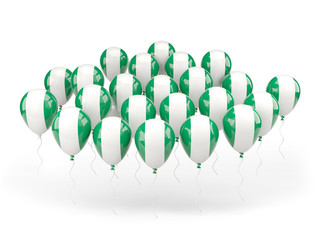 Balloons with flag of nigeria