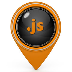 .js pointer icon on white background