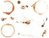 Fototapety Coffee Rings and Splatters