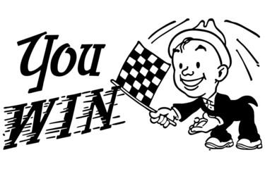 Checkered Flag You Win