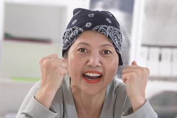 Portrait femme asiatique senior