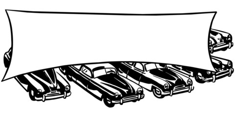 Cars With Banner