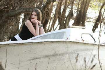 women at boat