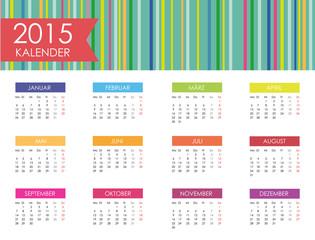 Kalender 2015 Jahresplaner Jahreskalender Taschenkalender bunt