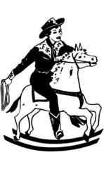 Boy On Rocking Horse