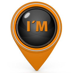 I am pointer icon on white background
