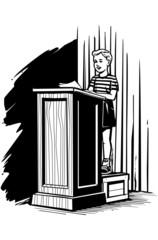 Boy On Podium