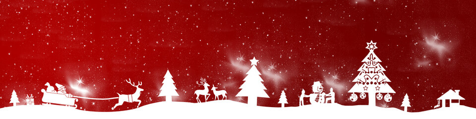 cb18 ChristmasBanner - stars - without text - 4to1 - g2668