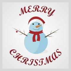 Cute Snowman. Merry Christmas