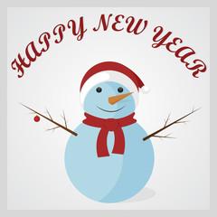 Cute Snowman. Happy New Year