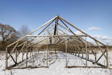 Empty greenhouse.