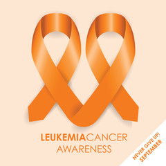 leukemia cancer awareness ribbon